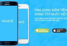 Tozaco là ứng dụng kiếm tiền trên điện thoại giúp bạn kiếm thẻ cào miễn phí nhanh nhất
