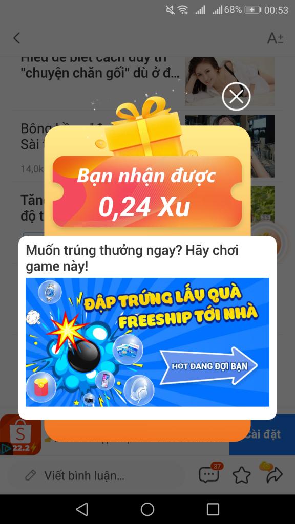 Báo hay 24h đọc báo kiếm tiền trên điện thoại giúp kiếm thẻ cào miễn phí hack appvn