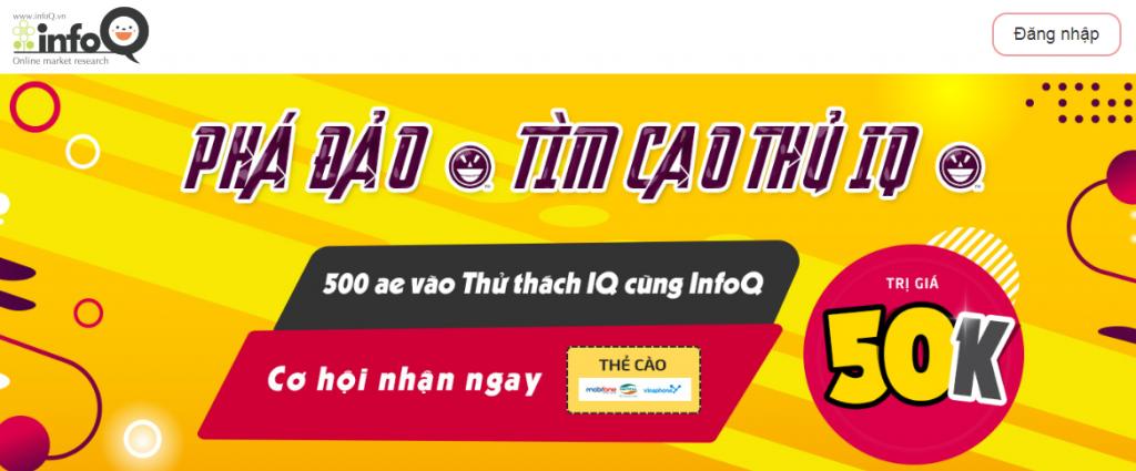 Infoq Việt Nam là gì, cách kiếm tiền từ trang khảo sát infoq như thế nào