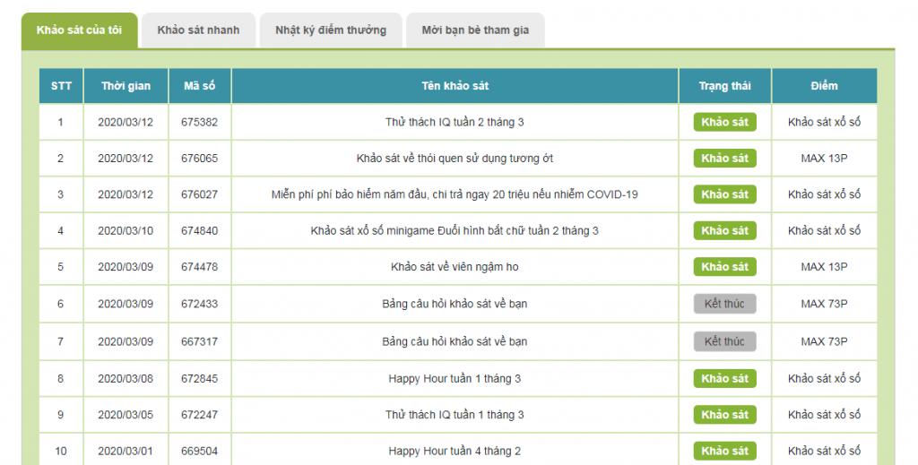 Làm khảo sát kiếm tiền online tại infoq Việt Nam