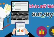 Surveyon là trang khảo sát kiếm tiền surveyon kiếm thẻ cào điện thoại miễn phí