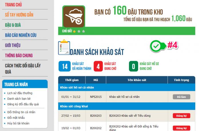 Top các trang khảo sát kiếm tiền online uy tín việt nam - Bean Survey