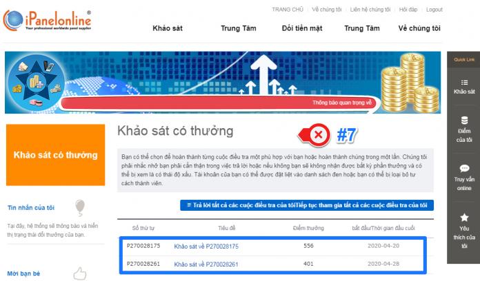 Top các trang khảo sát kiếm tiền online uy tín việt nam - Ipanel Online