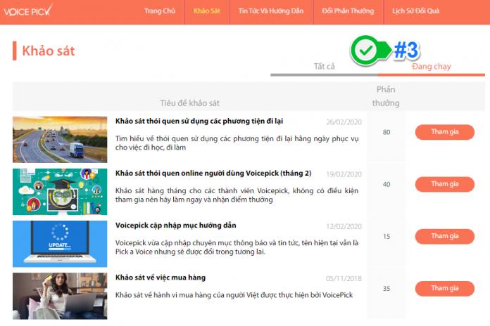 Top các trang khảo sát kiếm tiền online uy tín việt nam - Voicepick