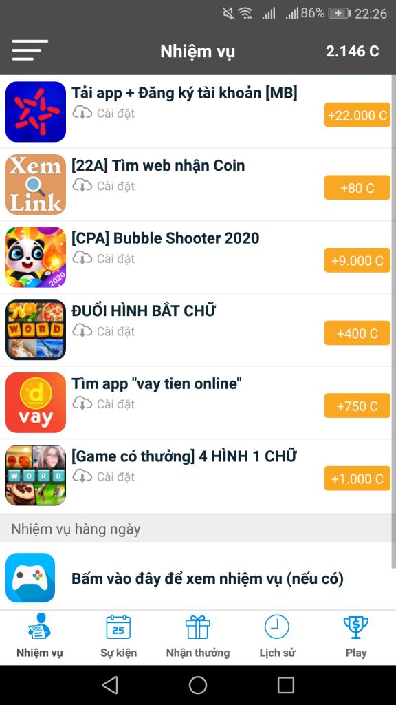 Tozaco là app ứng dụng kiếm tiền - kiếm thẻ cào điện thoại nhanh nhất