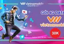 Vietnamobile đăng ký data 4G chỉ với 30K gói 4GM30