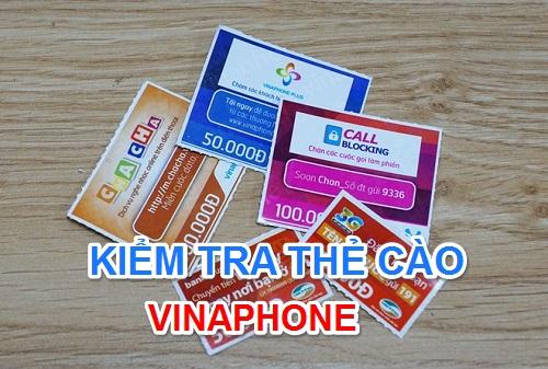 Kiểm tra thẻ cào Vinaphone đã nạp rồi hay chưa giúp tránh những trường hợp bị khóa sim. Vậy cách kiểm tra thẻ cào vinaphone online từ số seri 2020