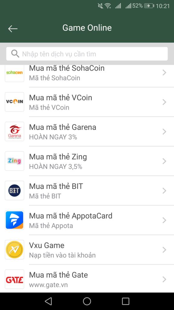 Kiếm thẻ game garena miễn phí khi liên kết thẻ ngân hàng với ví momo nhận ngay 10K