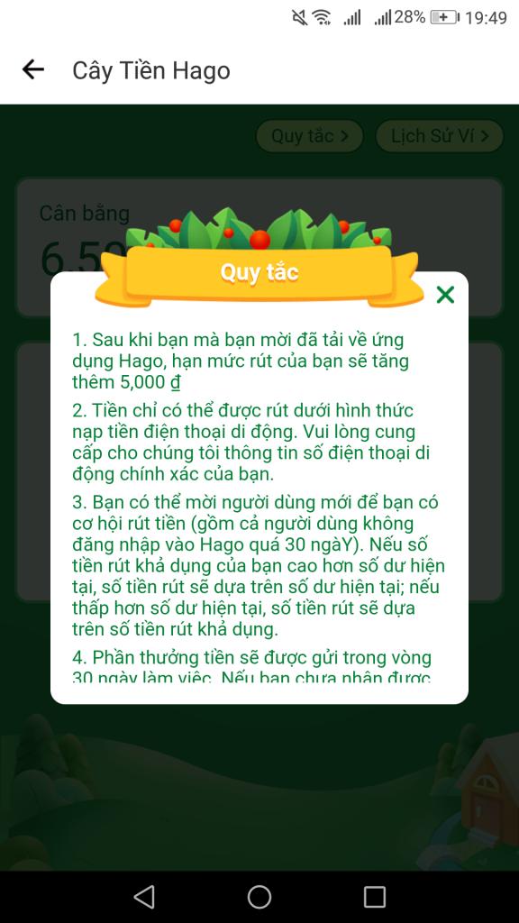 Rút tiền trên ứng dụng app chơi gam trồng cây kiếm tiền hago 2020