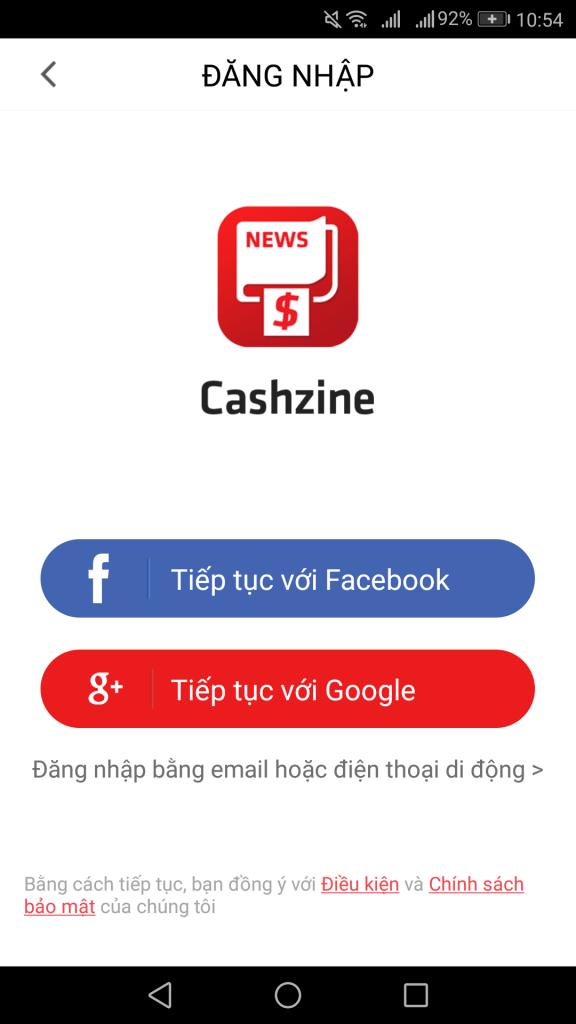 Dùng facebook hoặc google để đăng nhập tài khoản
