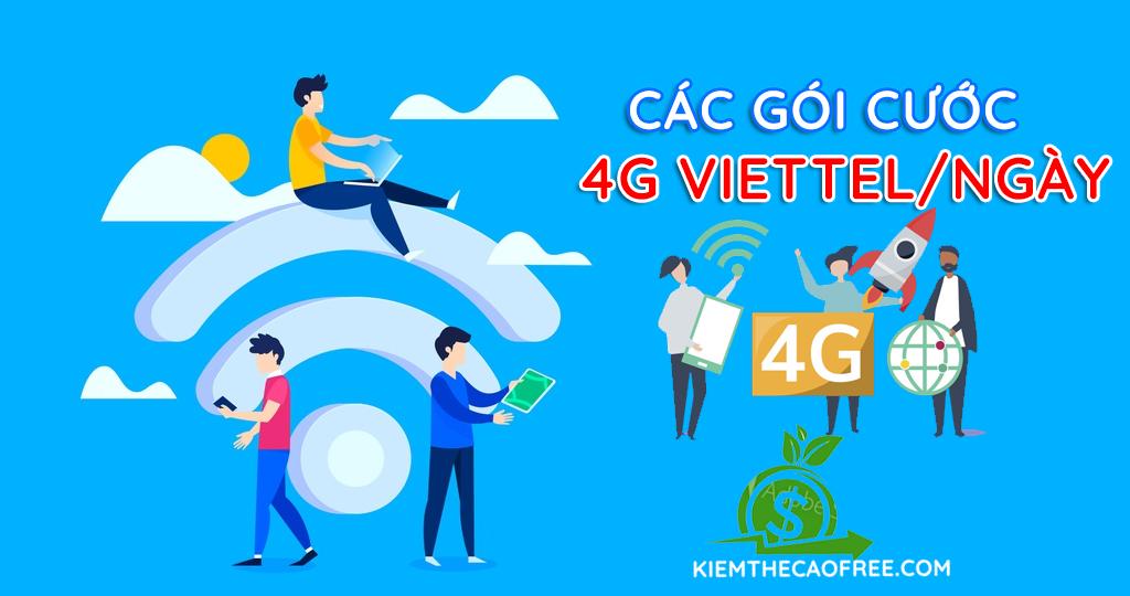 Các gói cước 4G Viettel 1 ngày tốc độ cao 2020