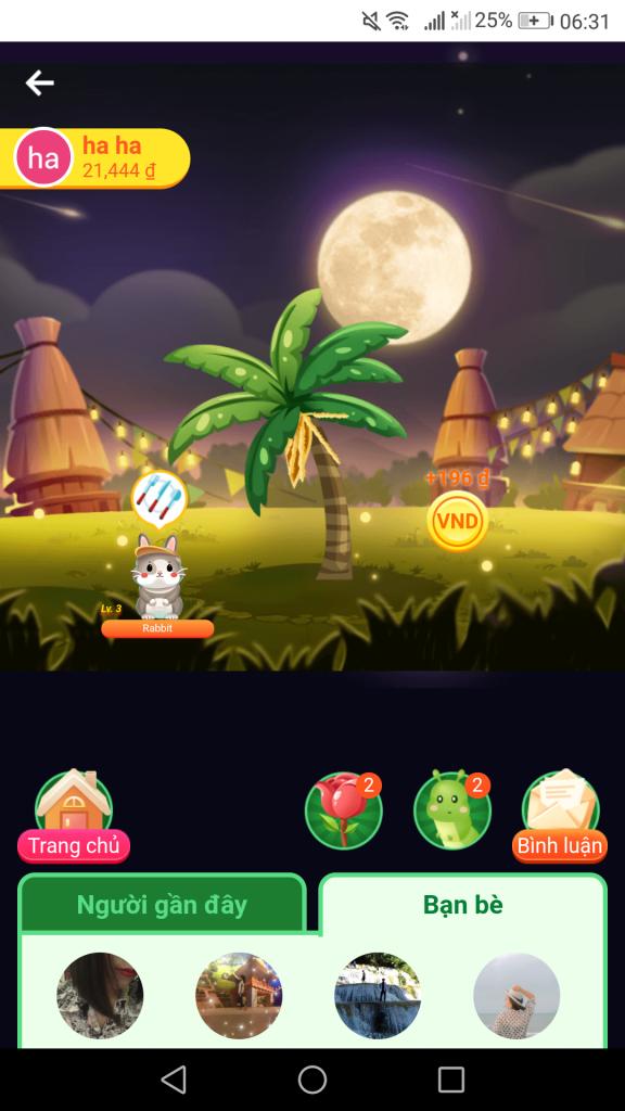 Hago chơi game trồng cây đổi thẻ cào