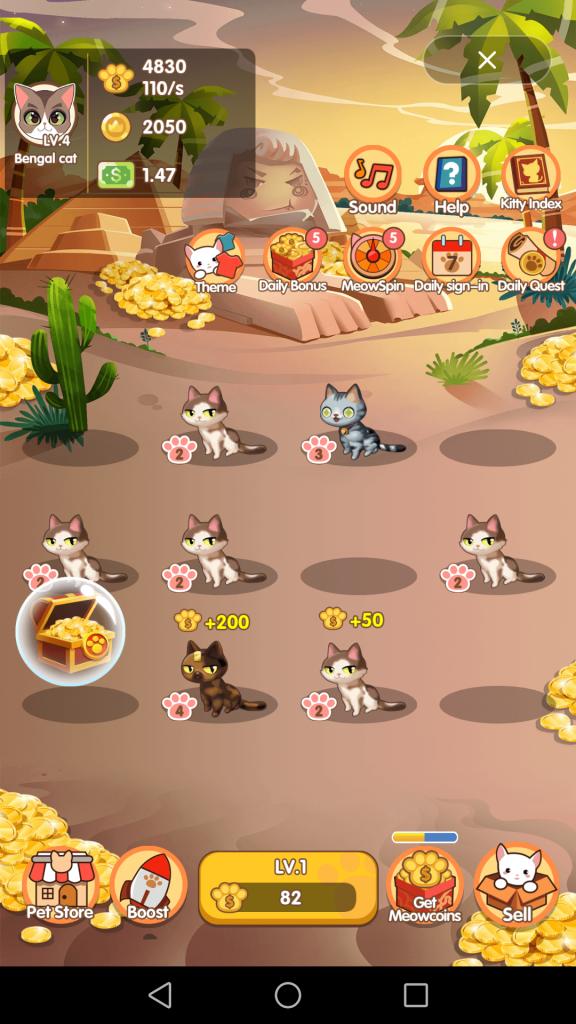 ClipClaps app chơi game nuôi mèo online kiếm tiền thật