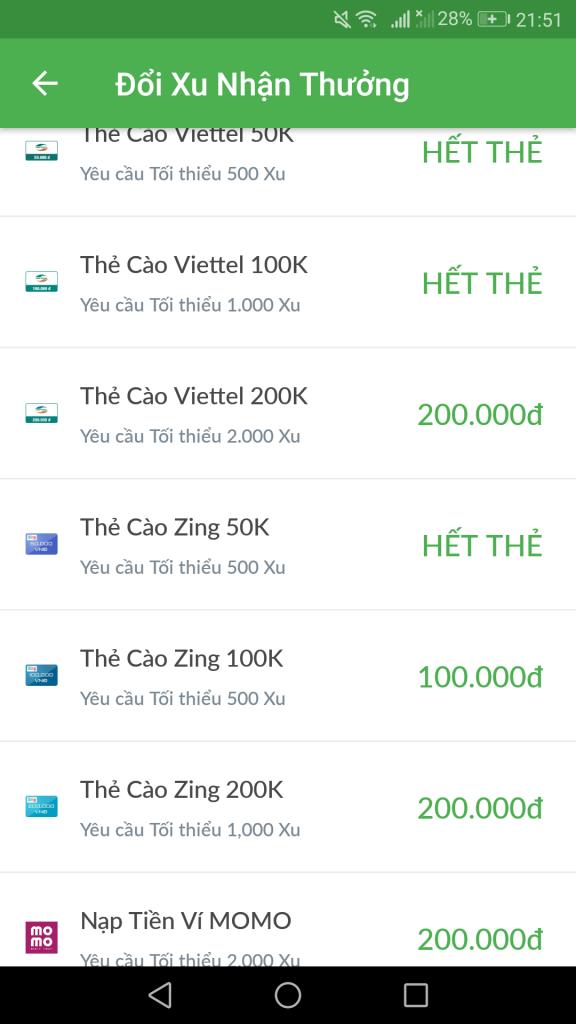 Big Xu đổi thẻ cào rút tiền mặt thẻ game kiếm tiền online