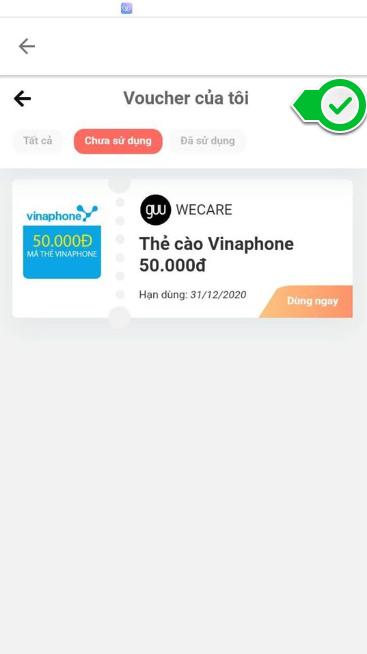 Wecare kiếm tiền đổi thẻ cào điện thoại hoặc rút tiền mặt về thẻ ngân hàng
