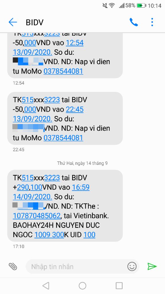 Cách rút tiền từ báo hay 24h về Momo và thẻ ngân hàng