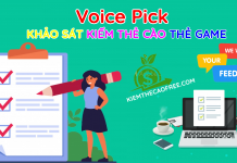 Voice Pick trang khảo sát kiếm thẻ cào thẻ game dễ nhất 2020