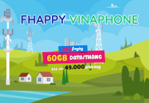 Gói cước FHAPPY Vinaphone nhận 60GB và 1000 phút gọi
