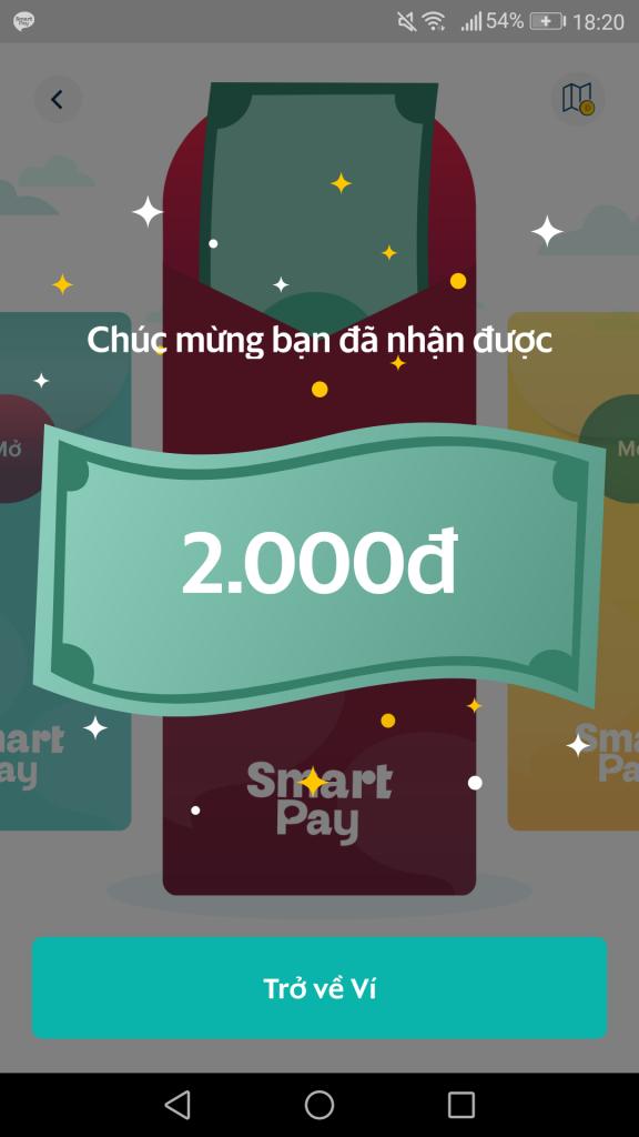 Cách nhận lì xì miễn phí từ SmartPay 2021
