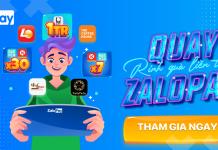 Vòng quay may mắn kiếm tiền từ ZaloPay 2021