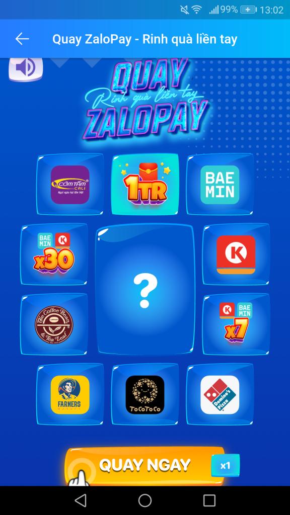 Vòng quay may mắn kiếm tiền từ ZaloPay 2021 kiếm thẻ cào