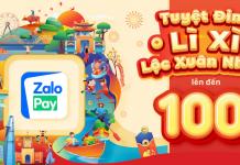 Nhận thẻ cào miễn phí từ sự kiện Lì xì TẾT 2021 ZaloPay