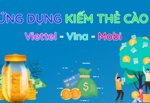 Ứng dụng kiếm thẻ cào Viettel, Vinaphone, Mobifone online