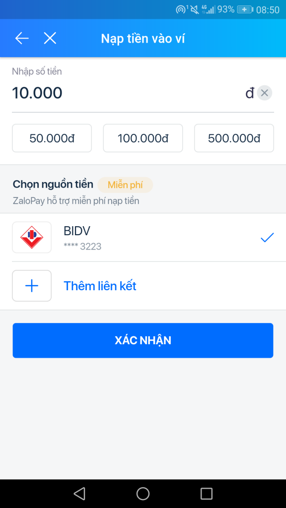 Cách nhận 50K kiếm thẻ cào miễn phí từ ZaloPay (Mới 2021) nạp tiền.