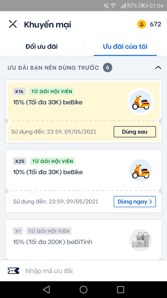 Áp dụng mã khuyến mãi để được giảm giá cho khách hàng, người dùng mới