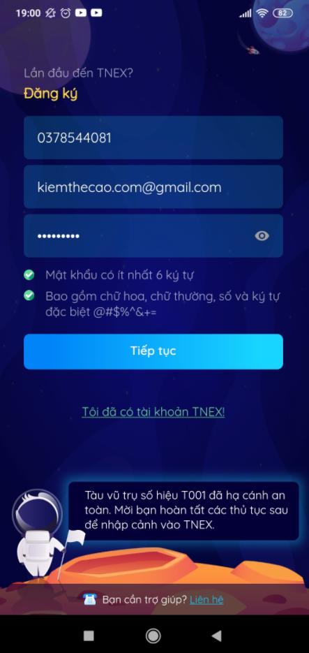 TNEX kiếm tiền như thế nào, cách nhận 20K miễn phí, nhập mã giới thiệu TNEX kiếm thẻ cào điện thoại