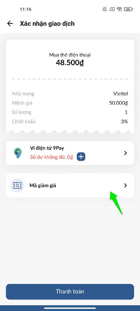 9PAY ví điện tử kiếm tiền thẻ cào điện thoại miễn phí 9PAY